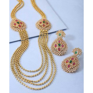 Voylla Necklace Set With CZ Embellishment For Women For Women
