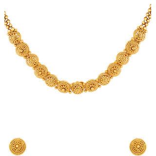 Voylla Golden Reprise Glory Necklace Set For Women