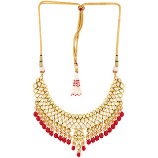 Voylla Classic Kundan Guluband Necklace Set For Women