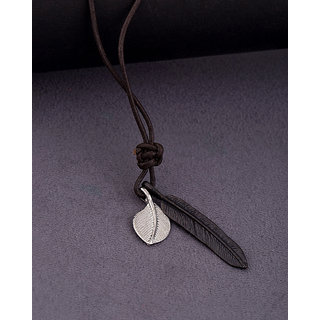 Dare by Voylla Dual Feather Motorcycle Roadies Necklace For Men