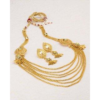 6fbf7230e449 Buy Voylla Classic Gold Plated Sanskriti Rani Haar Necklace Set For ...