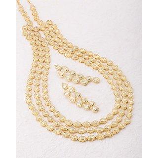 Voylla Three Layer Necklace Set from Meenakshi CZ For Women