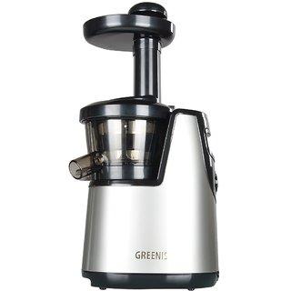 GREENIS Silver BPA Free 150W 65RPM Slow Juicer