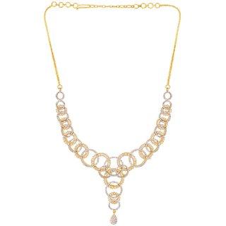 Voylla Dream Bubble CZ Necklace Set For Women