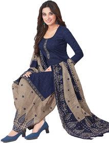 Women Shoppee's Colorful Cotton Salwar Suit Dupatta Unstiched Dress Material