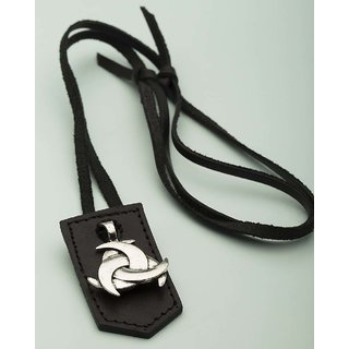 Dare by Voylla Tricrescent Moon Designer Pendant With Leather Chain  For Men
