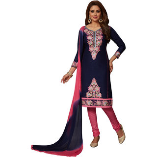 Women Shoppee's Embroidered - Unstiched Dress Material