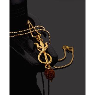 Dare by Voylla Rudraksha Lord Shiva Trishul Pendant For Men
