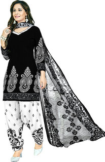 7ffdb2cac Women Shoppee's Stylish Synthetic Salwar Suit Dupatta - Unstiched Dress  Material