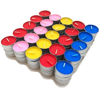 SultanAccessories Tea Light Candle Pack of 100 - Unscented, Multicolor