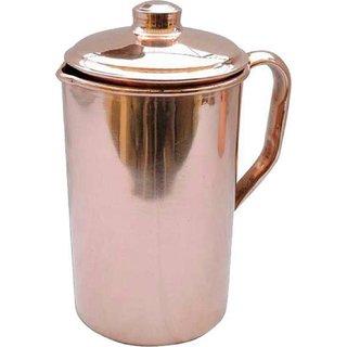 GULZAR Handmade Pure Copper Jug Pitcher 1500 ml Tableware For Storage  Serving Water Good Health Benefits Indian Yoga