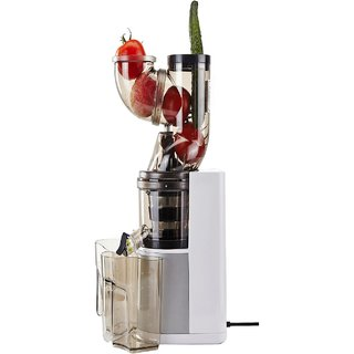 GREENIS White BPA Free 150W 65RPM Wide Mouth Slow Juicer