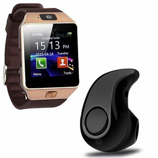 Bluetooth Smart Watch with Camera  Mini Wireless Bluetooth Headset with Mic for All Smartphone