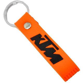 Spidy Moto Silicon Rubber KTM Keychain Keyring Orange Keychain