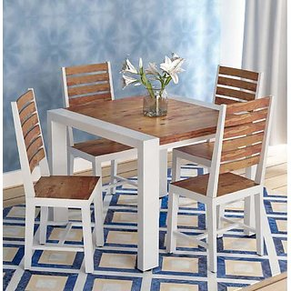 Shilpi Handicrafts Sheesham Wood Six Seater Dining Set with Bench in Provincial Teak Finishing