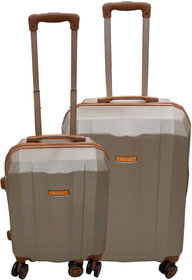 Saccus Abs 20 and 24inch Rose Gold Hard Trolley Bag (4 Wheel)