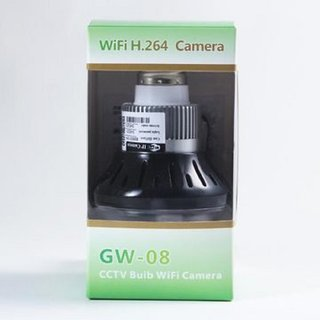 Wi-Fi Night Vision Hidden Bulb Camera with Remote Control GW08 H.264 1080P