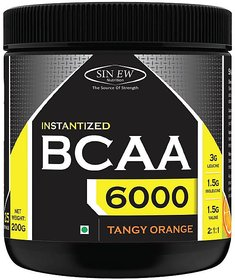 Sinew Nutrition Instantized BCAA 211, 0.44lb - 25 Serving BCAA (200 g, Tangy Orange)
