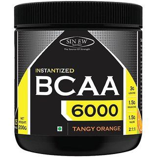 Sinew Nutrition Instantized BCAA 2:1:1, 0.44lb - 25 Serving BCAA (200 g, Tangy Orange)