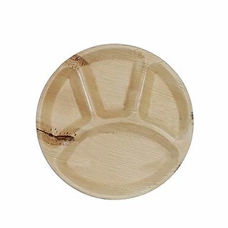 Disposable Party Plates- Areca leaf plates - Palm leaf plates (Pack of 100) 12X12 inch- 100 Natural eco friendly plates