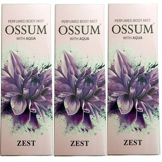 OSSUM ZEST PERFUMED BODY MIST 115 ML PACK OF 3