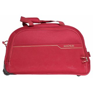 9312b6951eb Buy Safari Magnum 55 Duffel Trolley Bag Red Online - Get 43% Off