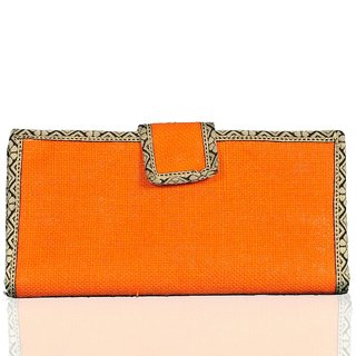 Lady queen Orange Floral Women Wallet