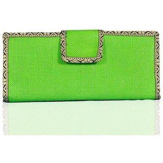 Lady Queen Green Floral Women Wallet