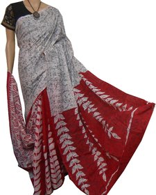 boutique saptaparni cotton woman silk print  malmal with blouse pics