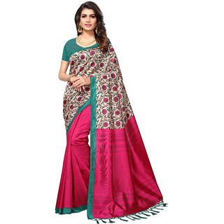 Glamour Purple Art Silk Embellished Saree With Blouse