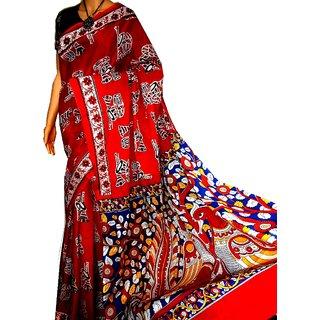 cotton silk block print malmal with blouse pics