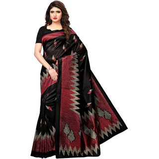 Glamour Black Silk Embellished Saree With Blouse