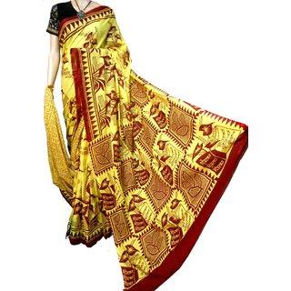 boutique saptaparni cotton woman silk block print malmal with blouse pics