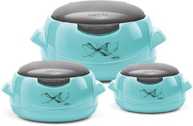Milton One Touch Microwow Jr. Gift Set 500 / 1000/ 1500 Insulated Microwaveable Casserole 3 Pcs.