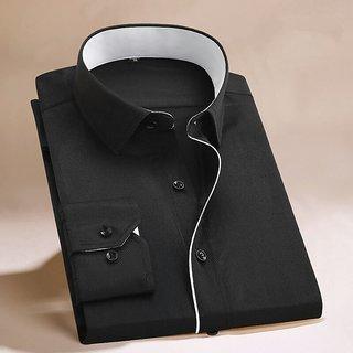 Designer Black White (cotton-code) Casual Shirt