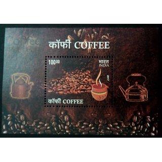 India - COFFEE 2017- RARE Miniature Sheet
