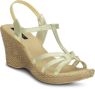 Kielz-Gold-Women-Wedges-Sandals