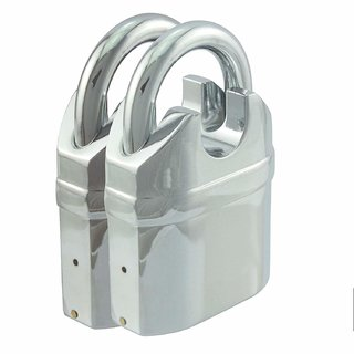 Abros AJT0X1 Pack of 2 - Closed Shackle Heavy Duty Alarmed Padlock with 110db Motion Sensing Siren Alarm