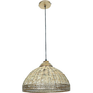 Fos Lighting Wicker Cane Dome Pendant Light