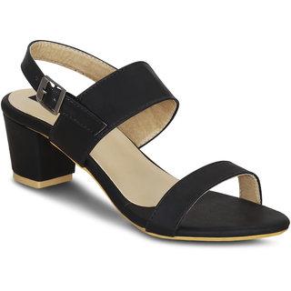 94266b8d6cf Buy Kielz-Black-Block-Heel-Sandals Online - Get 60% Off