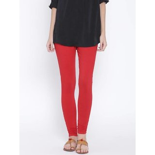 Cotton Leggings for Womens ( Red )