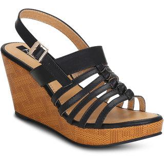 Kielz-Black-Platform-Women's-Sandals