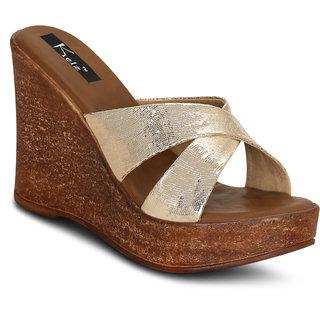 318149083c3 Buy Kielz-Gold-Platform-Sandals Online - Get 67% Off