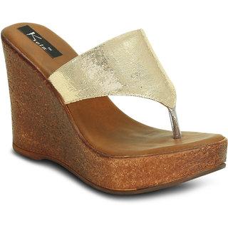8e997d923bc Buy Kielz-Gold-Women s-Platform-Sandals Online - Get 50% Off