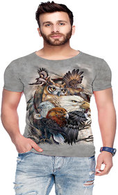 Raves Men's Printed Round Neck T-shirts