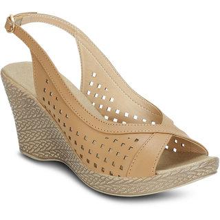 90b41228abf Buy Kielz-Beige-Women s-Wedge-Sandals Online - Get 50% Off