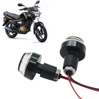 Bike Turn Signal LED Handle Bar Light for TVS Victor ( White & Blue )