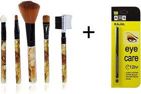 5 Pieces Make Up Brush Cosmetic Set Kit Multi Functional Product + FREE ADS Eye Care Long Lasting Kajal