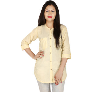 Fashion Senora Casual Rayon Chicku Color Women's Top 3/4 Sleeves- Stitched