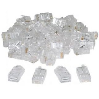 100 pieces RJ45 CAT5 Modular plug ethernet gold plated network connector